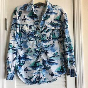 Tommy Bahama Women's Button Down Linen Blend Shirt
